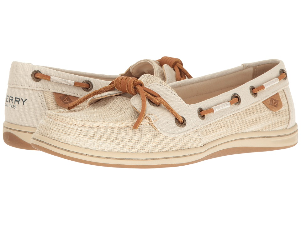 Sperry Barrelfish Heavy Linen (Ivory) Women