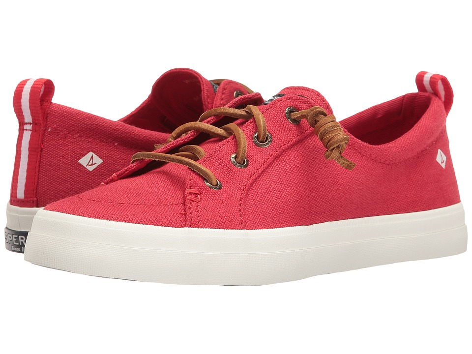 Sperry Crest Vibe Washed Linen (Red) Women