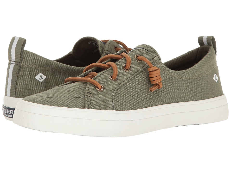 Sperry Crest Vibe Washed Linen (Olive) Women