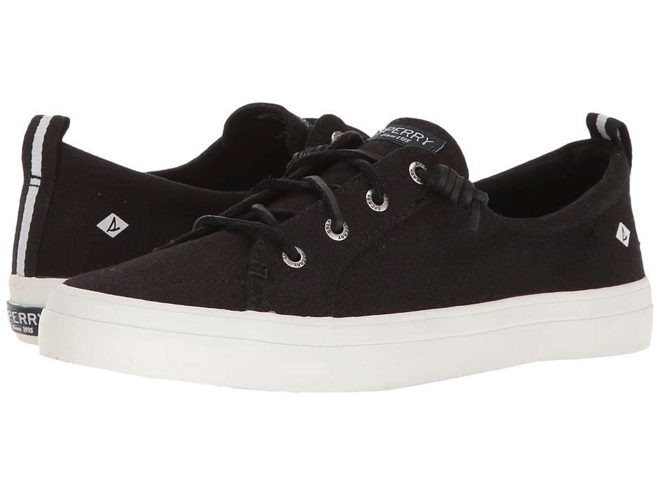 Sperry Crest Vibe Washed Linen (Black) Women