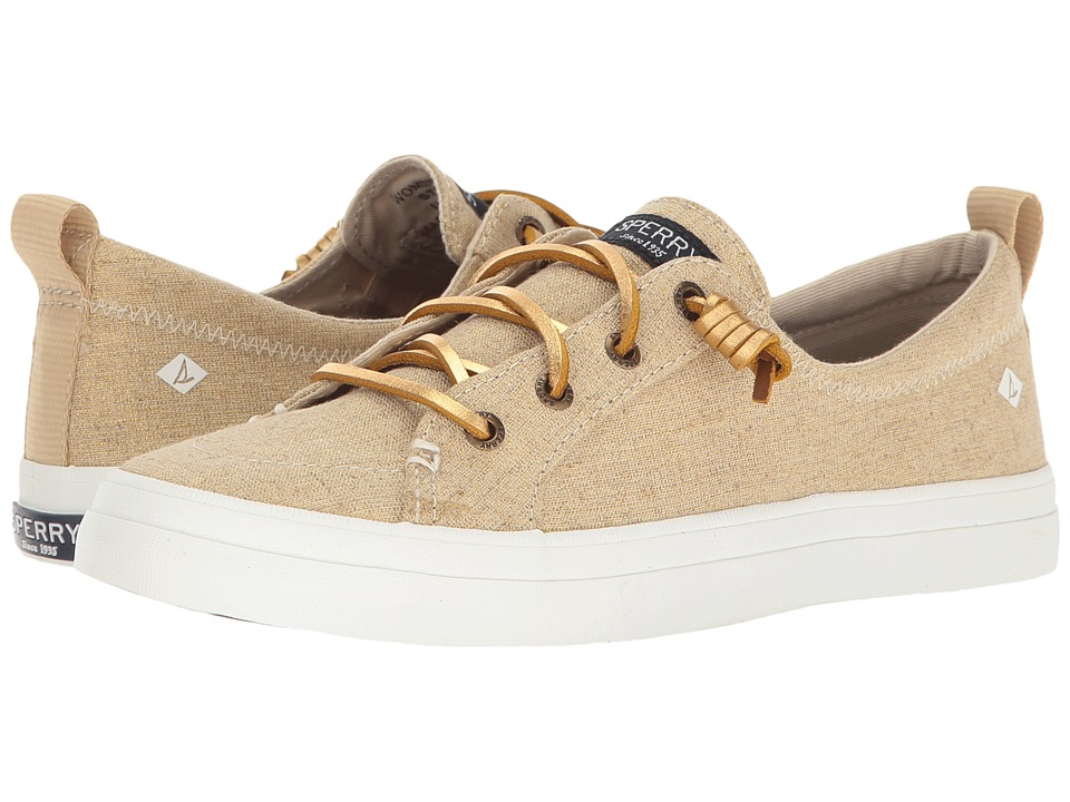 Sperry Crest Vibe Washed Linen (Gold Metallic) Women