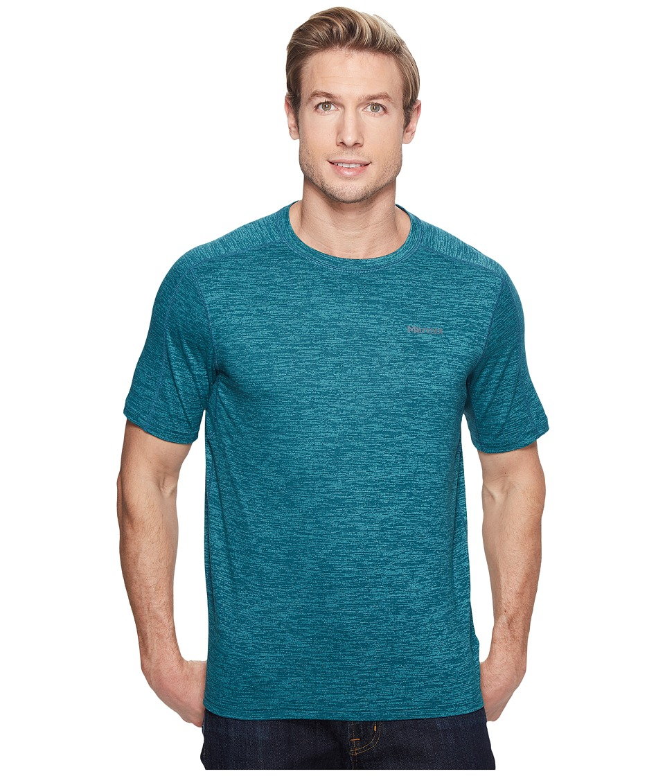Marmot Ridgeline Short Sleeve (Deep Jade Heather) Men