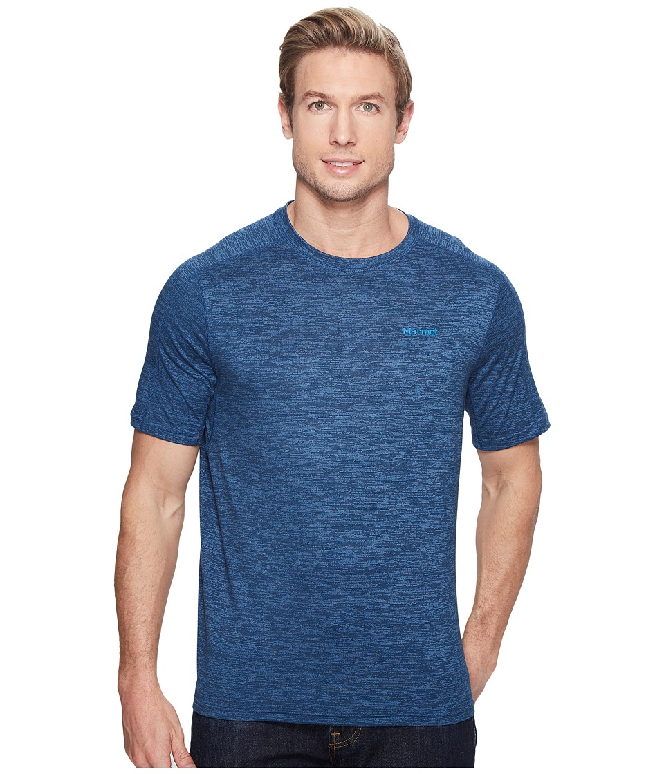 Marmot Ridgeline Short Sleeve (Dark Indigo Heather) Men