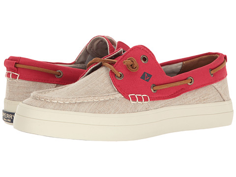 Sperry Crest Resort Canvas Two-Tone - Ivory/Red