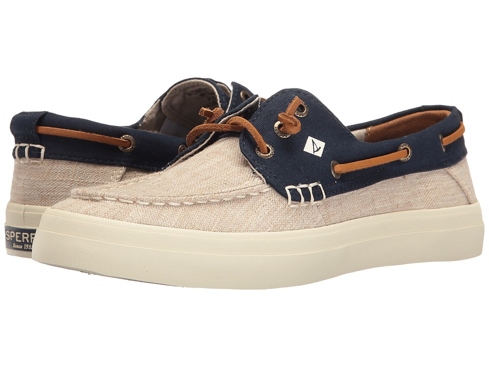 Sperry Crest Resort Canvas Two-Tone (Ivory/Navy) Women