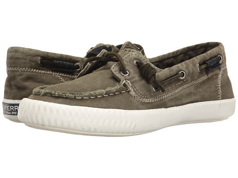 Sperry Sayel Away Washed Canvas - Olive