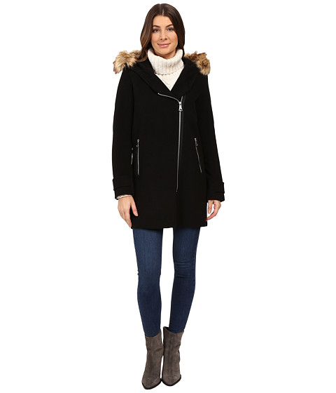 Marc New York by Andrew Marc Paloma Asymmetrical Zip Coat - Black