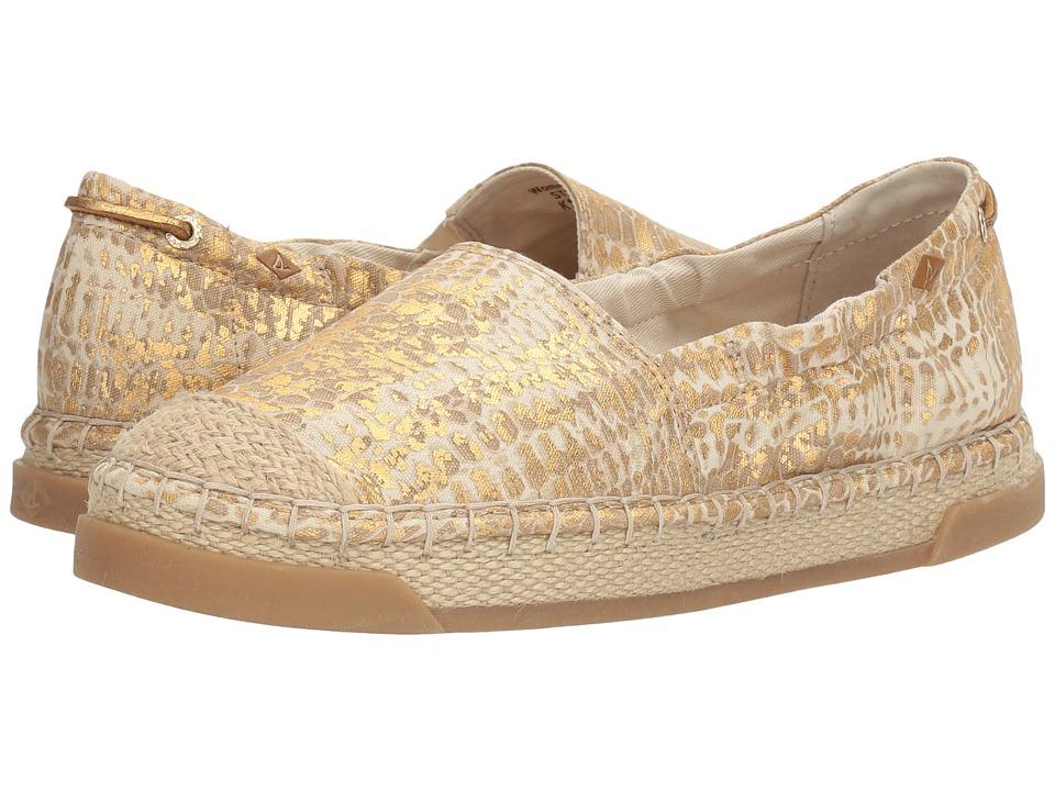 Sperry Laurel Reef Prints (Linen/Gold Python) Women
