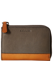 COACH - Bleecker Leather Color Block 1/2 Zip Wallet