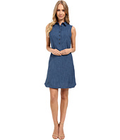 Tahari by ASL - Sleeveless Faux Denim Shirtdress