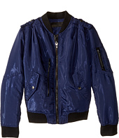 Blank NYC Kids - Bomber Jacket w/ Zipper & Pockets in Mechanic (Big Kids)