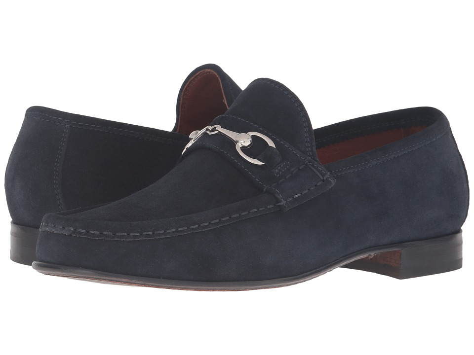 Massimo Matteo Hand Sewn Moccasin with Bit (Navy Suede) Men
