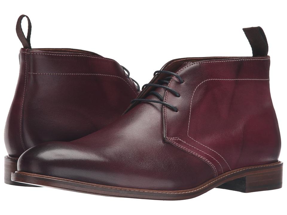 Massimo Matteo - 3-Eye Chukka (Bordo) Mens Lace-up Boots