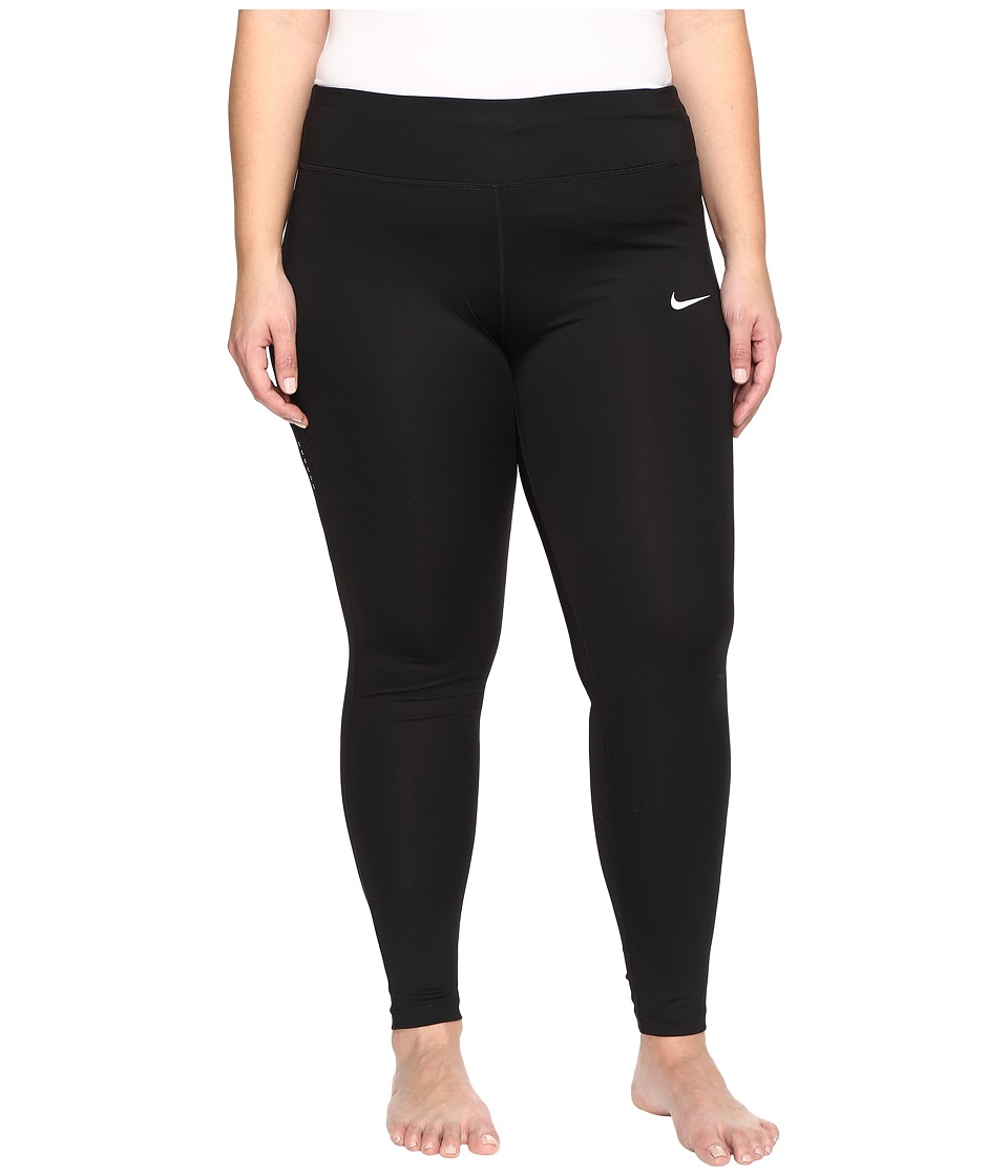 Nike Power Essential Running Tight (Size 1X-3X) (Black/Bl...
