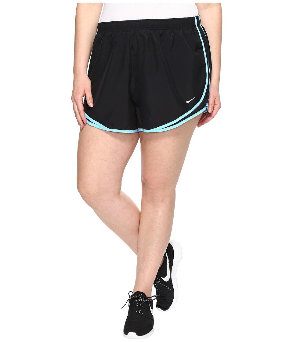 Nike Dry Tempo 3 Running Short (Size 1X-3X) (Black/Black/Vivid Sky/Wolf Grey) Women