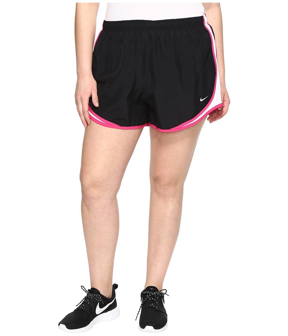 Nike Dry Tempo 3 Running Short (Size 1X-3X) (Black/White/Vivid Pink/Wolf Grey) Women