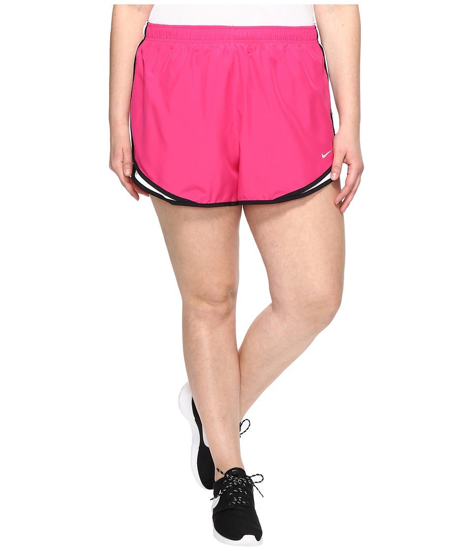 Nike Dry Tempo 3 Running Short (Size 1X-3X) (Vivid Pink/White/Black/Wolf Grey) Women