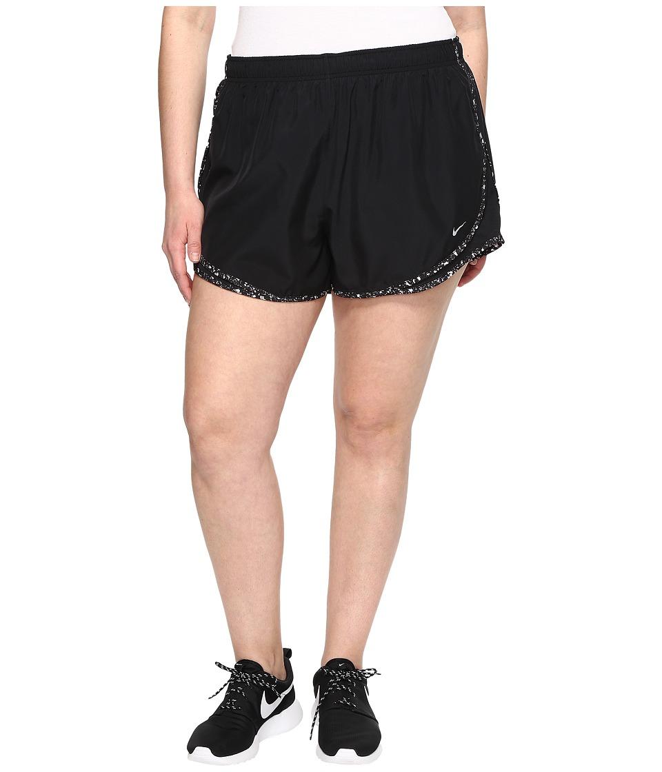 Nike Dry Tempo 3 Running Short (Size 1X-3X) (Black/Black/Wolf Grey/Wolf Grey) Women
