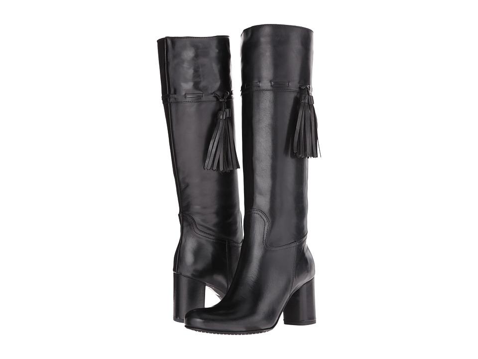 Massimo Matteo Calf Heel Tassel Boot (Black) Women