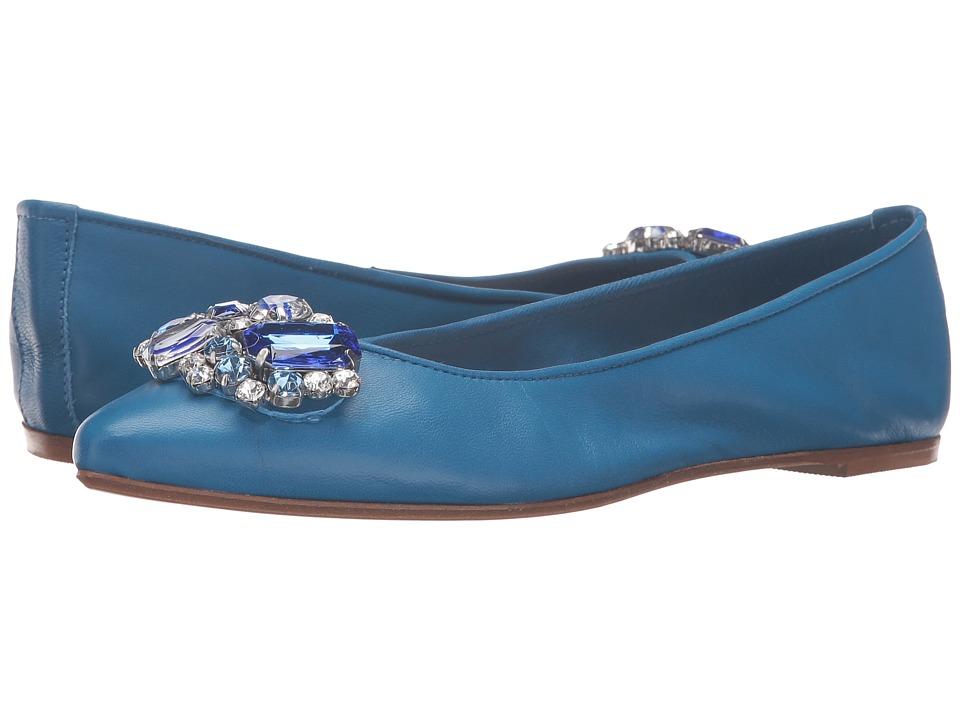 Massimo Matteo Flat with Ornament (Royal Blue) Women