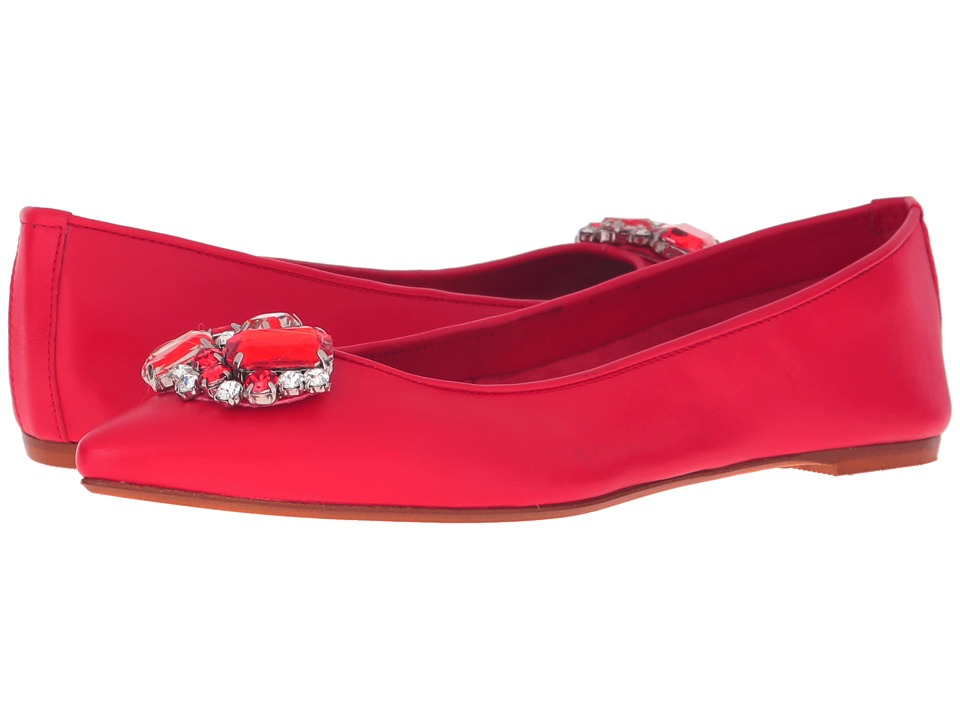 Massimo Matteo Flat with Ornament (Red) Women