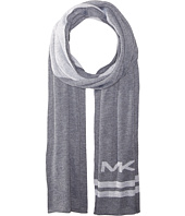 MICHAEL Michael Kors - Reversible Big MK Bottom Stripe Muffler