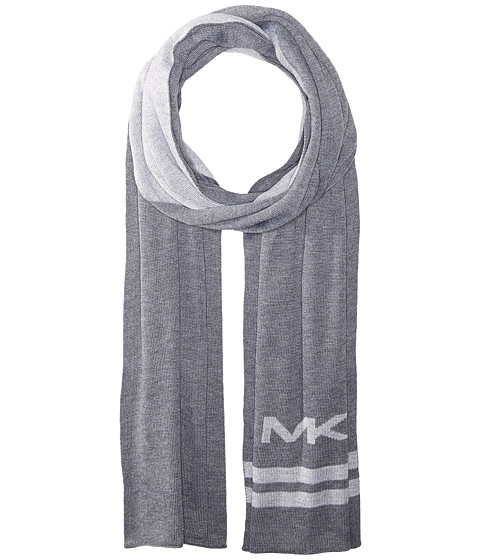MICHAEL Michael Kors Reversible Big MK Bottom Stripe Muffler