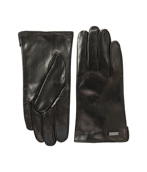 MICHAEL Michael Kors Deerskin Leather Gloves w/ Three Points and Handsewn Deer Suede Back