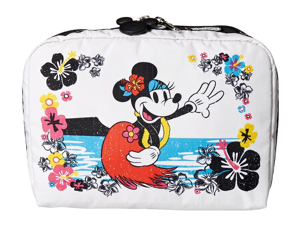 LeSportsac Luggage - Extra Large Rectangular Cosmetic Case (Minnie Hula) Cosmetic Case