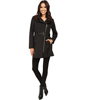 MICHAEL Michael Kors - Asymmetric Zip Front Belted Trench M722395T