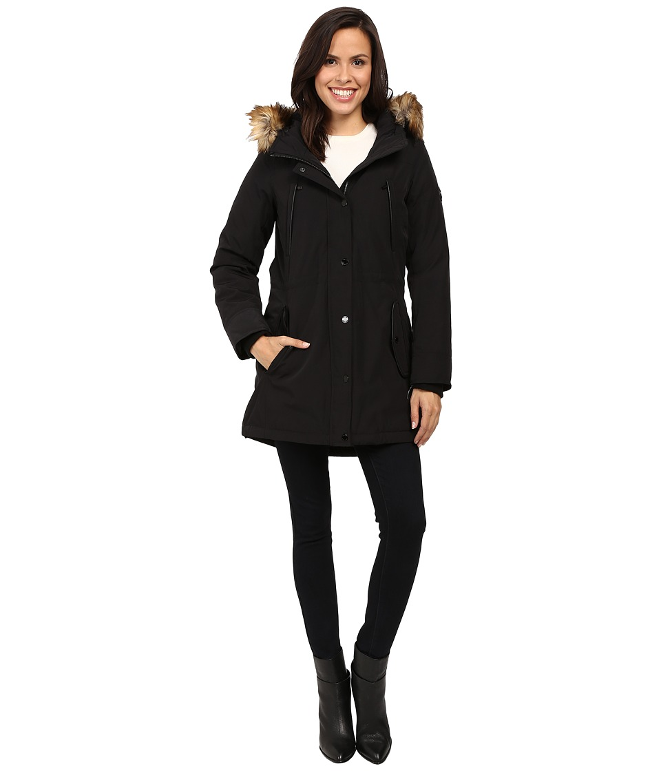 MICHAEL Michael Kors - Down w/ Fur Trim Hood M822170T (Black) Women