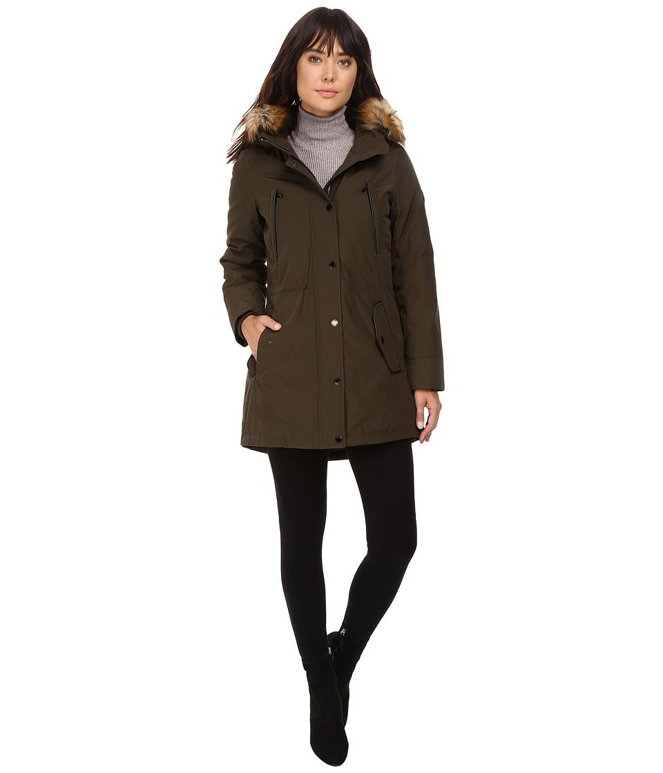 MICHAEL Michael Kors Down w/ Fur Trim Hood M822170T (Olive) Women