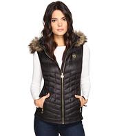 MICHAEL Michael Kors - Vest with Fur Trim Hood MA820141T
