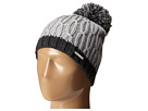MICHAEL Michael Kors - Color Block Rib/Cable Hat with Pom