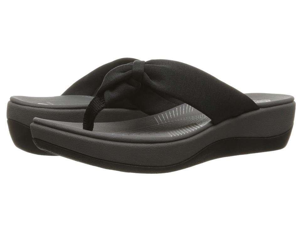 Clarks Arla Glison (Black Heather Fabric) Sandals