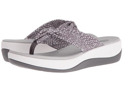 Clarks Arla Glison - Grey/Whie Dots Fabric