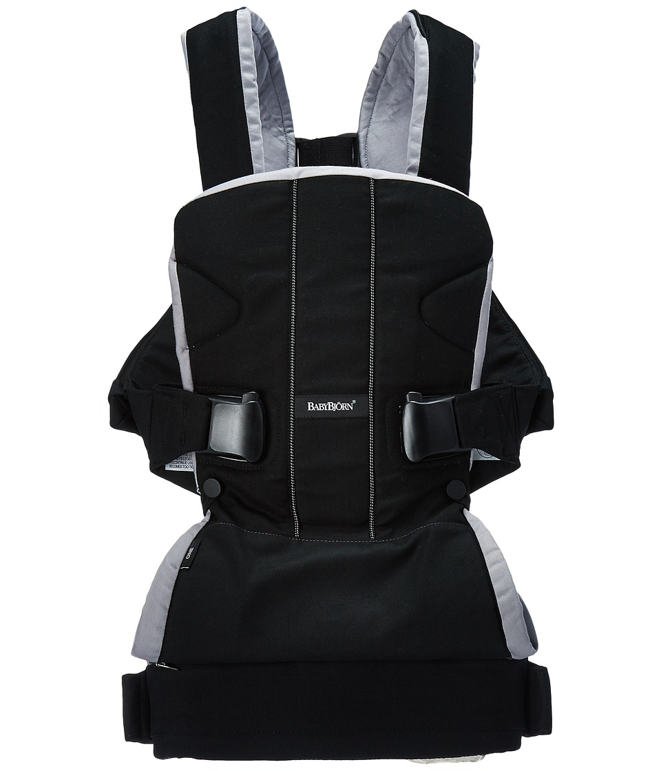 Image of BabyBjorn - Baby Carrier ONE (Black/Silver Cotton) Carriers Travel