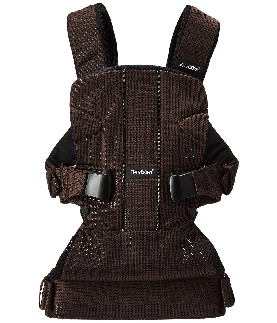 Image of BabyBjorn - Baby Carrier One Air (Brown/Black Mesh) Carriers Travel