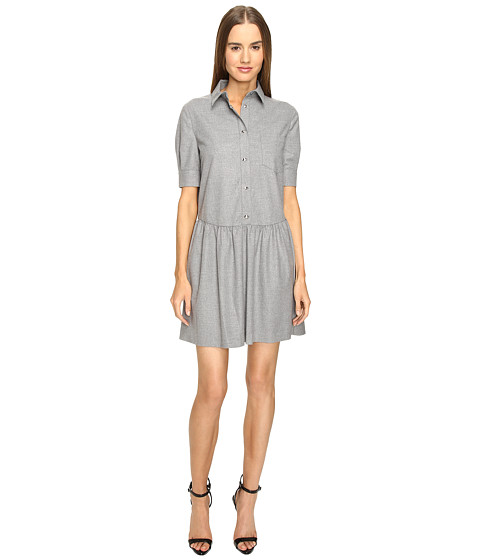 LOVE Moschino Collared Girly Frock - Grey