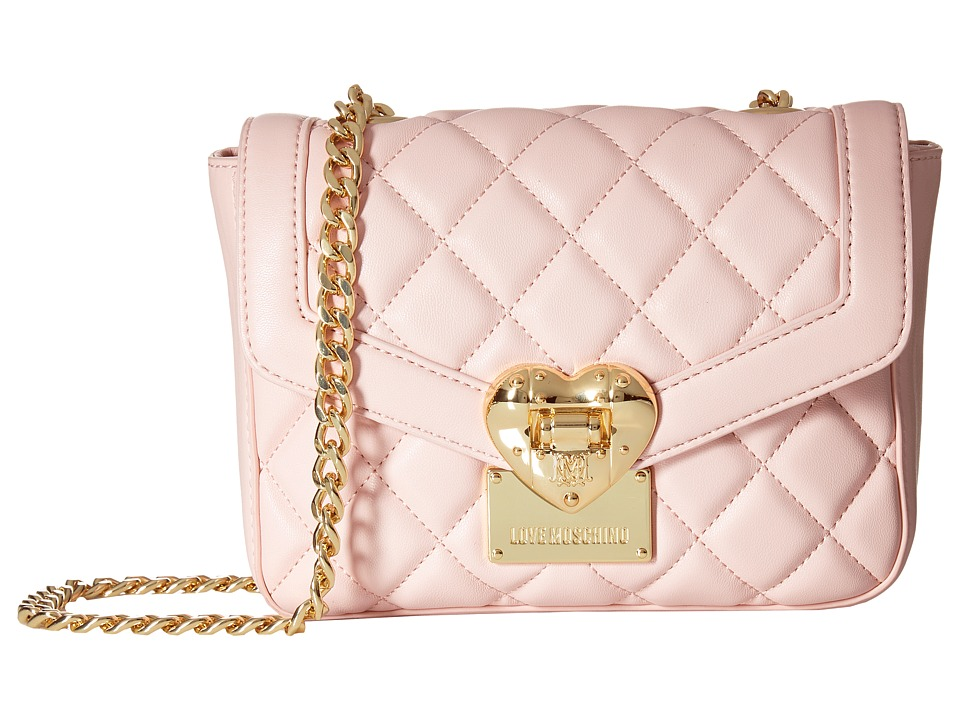 LOVE Moschino - Quilted Envelope Crossbody (Pink) Cross Body Handbags