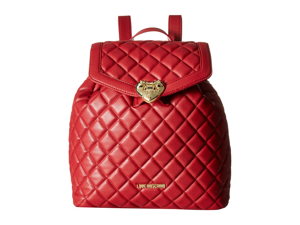 LOVE Moschino - Quilted Knapsack (Red) Backpack Bags