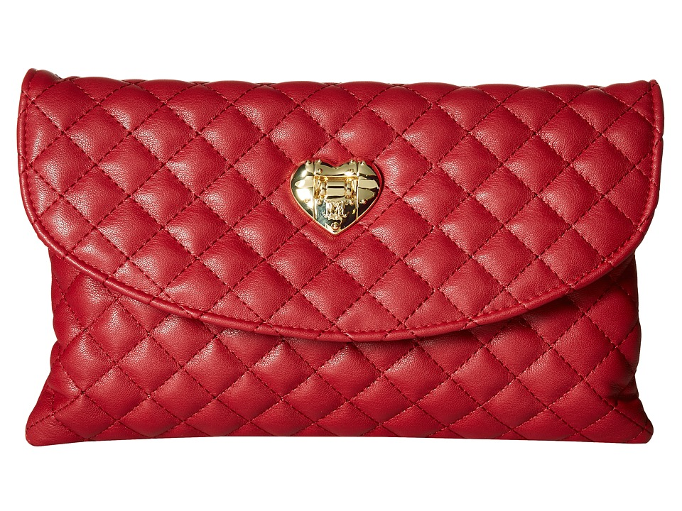 LOVE Moschino - Envelope Clutch (Red) Clutch Handbags