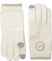 MICHAEL Michael Kors - Logo Studded Gloves with Touch Technology