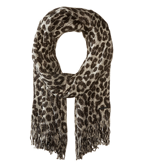 MICHAEL Michael Kors Large Spotted Cheetah Double Printed Metallic Raschel - Black Combo