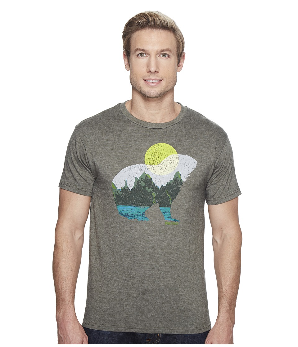 Marmot Alpine Zone Tee Short Sleeve (Olive Heather) Men