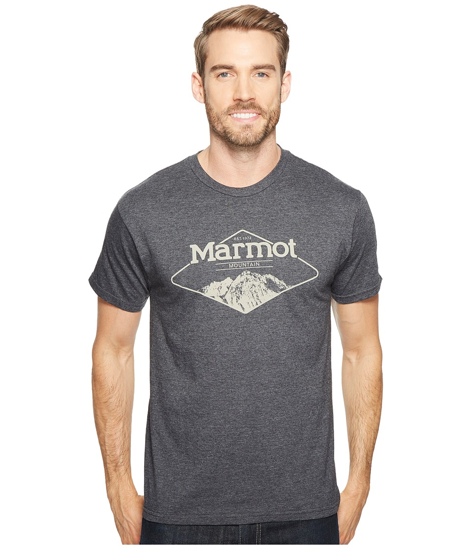 Marmot Mountaineer Tee Short Sleeve (Charcoal Heather) Men