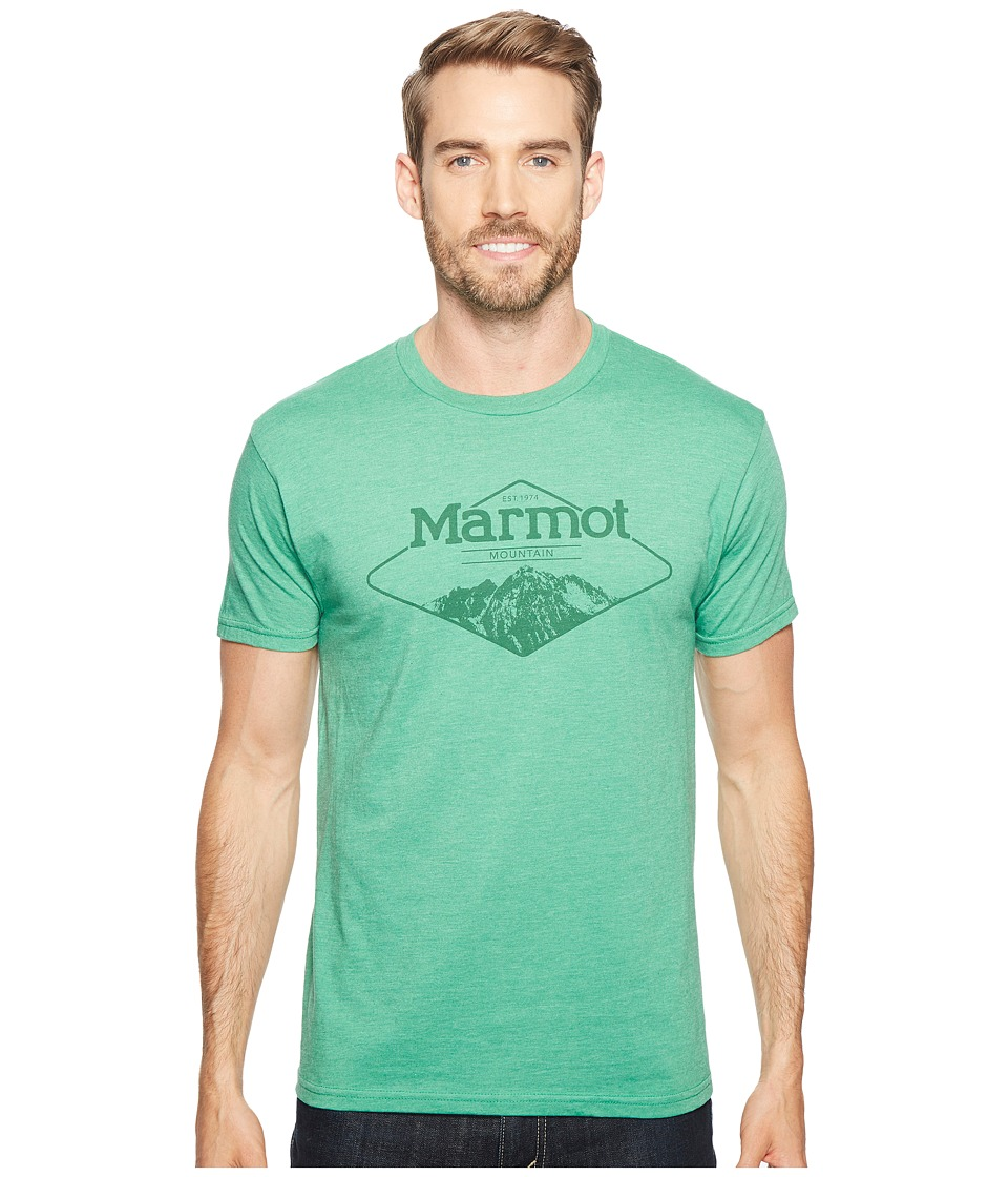Marmot Mountaineer Tee Short Sleeve (Green Heather) Men