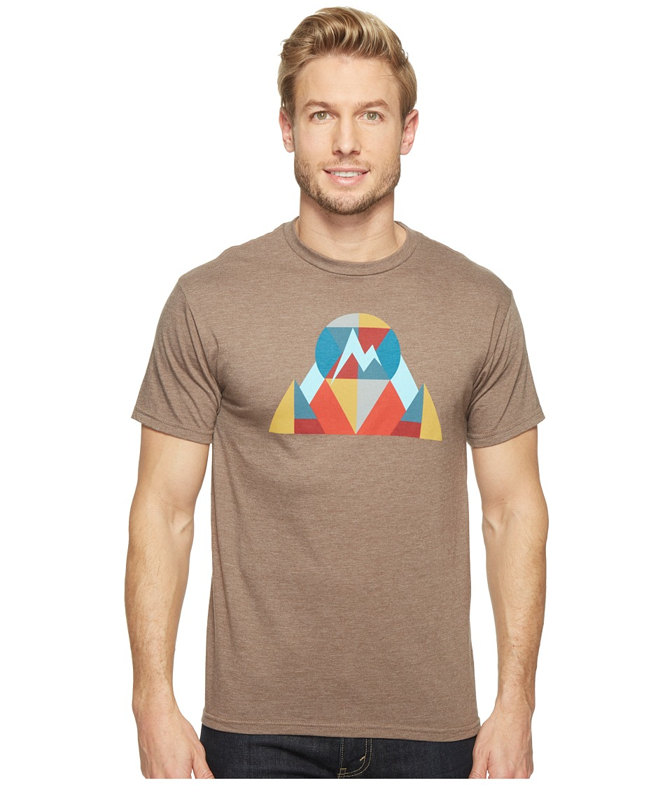 Marmot Hew Tee Short Sleeve (Brown Heather) Men