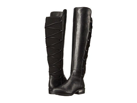 Vince Camuto Parle - Black Silky Leather/Stretch Neoprene