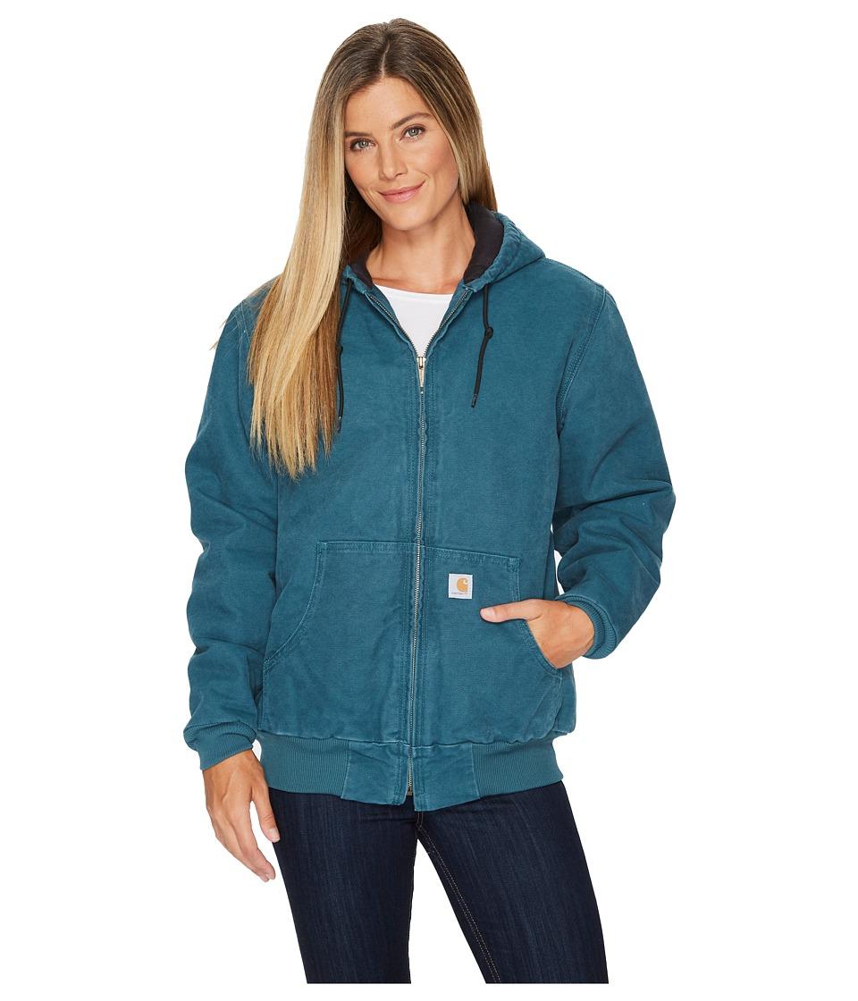 Carhartt Sandstone Active Jacket (Dark Teal) Women's Coat
